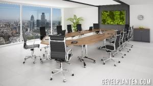 kantoor als levend schilderij